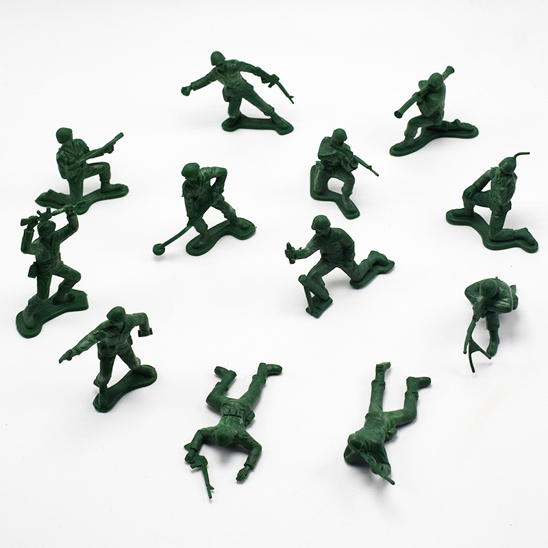 12Pcs World War II Soldiers Warriors Table Mode Action Figuresl Toy Kids Toy Soldiers Figures Model