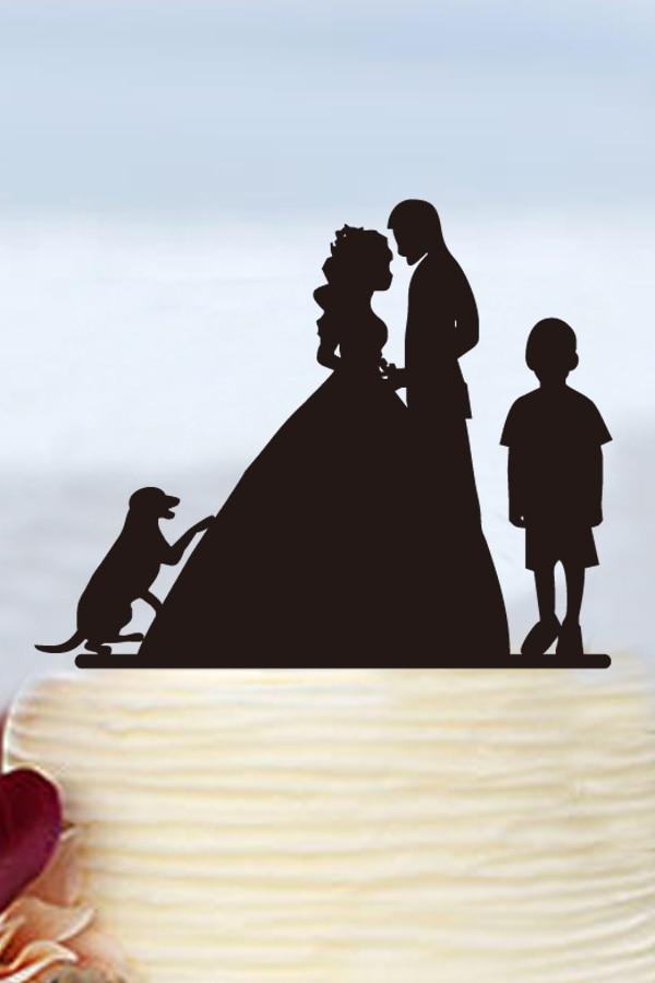 Kāzu rotājumi Viesību torte Toppers Personalizēti kūku topi - Svētku piederumi