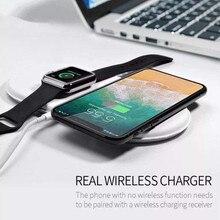 3 em 1 qi carregador sem fio para iphone x para iwatch 1 2 3 carregador rápido almofada para samsung note8 s8plus s7edge s9 carregador