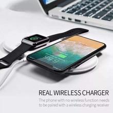 3 en 1 QI chargeur sans fil pour iPhone X pour iWatch 1 2 3 chargeur rapide pour Samsung Note8 S8Plus S7Edge S9 chargeur