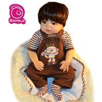55 Cm Reborn Doll Full Body Soft Silicone Realistic Toy Play House Lifelike Newborn Babies Doll