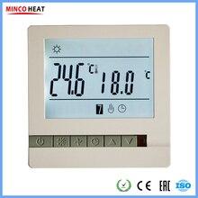 16A 230V регулятор температуры инструмент недельный программируемый ЖК-дисплей экран с электрическим подогревом комнатный термостат