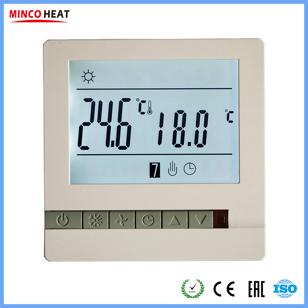 16A 230V Temperature Controller Instrument Weekly Programmable LCD Display Screen Electric Heating Room Thermostat