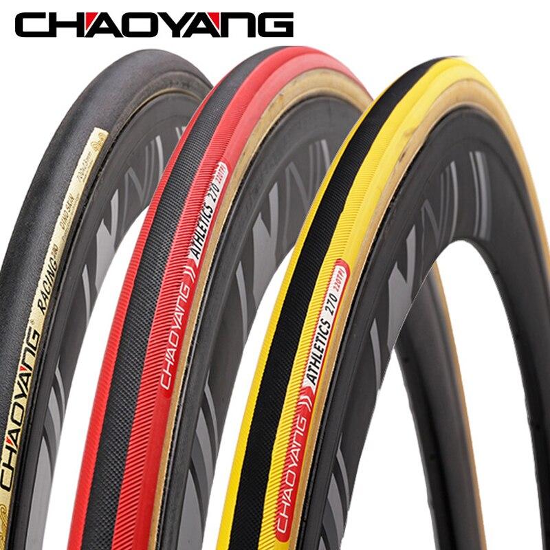 CHAOYANG vélo Tube pneu 700C x 23C route vélo pneu pour la formation course 220-290 TPI pliant route anti-crevaison pneu 1 pièce