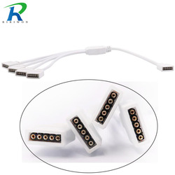 RGB Connector Verlichting Accessoires 4 Pin 5 Pin RGB/RGBW 1to2 1to3 1to4 Vrouwelijke LED RGB Splitter Kabel Voor 5050 2835 LED Strip