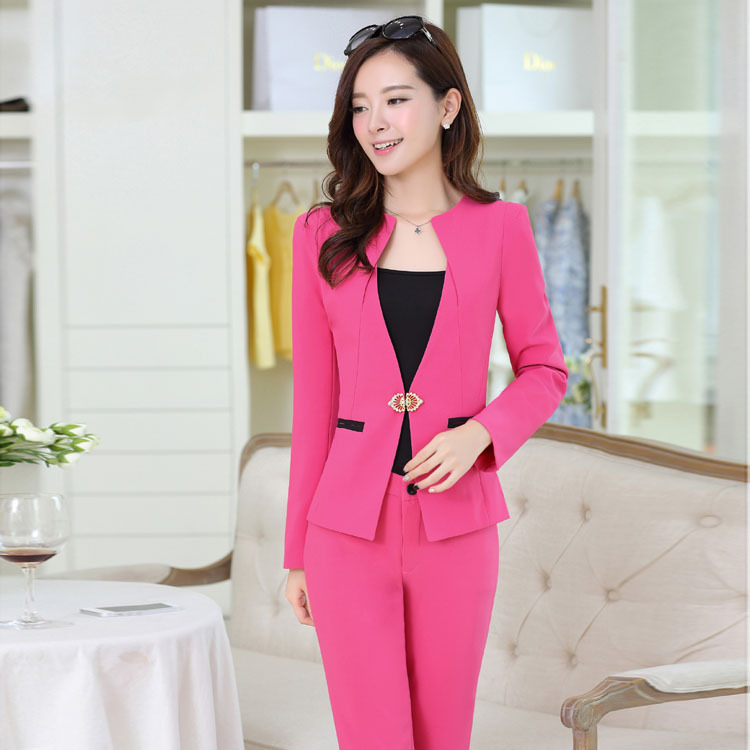 Aliexpress.com : Buy Professional women new winter pants Suit red ...