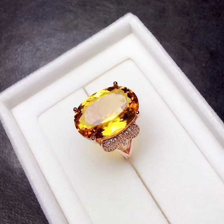 HTB1acYqa. rK1Rjy0Fcq6zEvVXa0 - Citrine Ring for Women, 925 Sterling Silver Wedding Jewelry