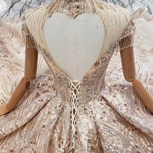 Image 5 - HTL509 หรูหราดูไบชุดราตรีคอรูปหัวใจ backless lace up ผู้หญิงคริสตัลโอกาสชุดราตรี avond jurken
