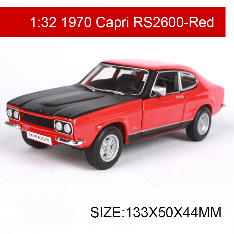 Ford Sports Car Models: 1:32 Diecast Model Car 1970 Capri RS2600 Classic Cars