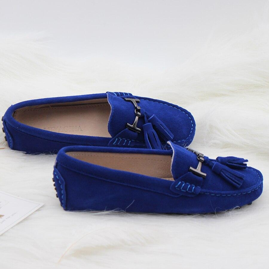 Haute Qualité Femmes Chaussures 100% En Cuir Véritable Appartements de Femmes Chaussures de Causalité Femmes Mocassins Printemps Automne chaussures de Conduite