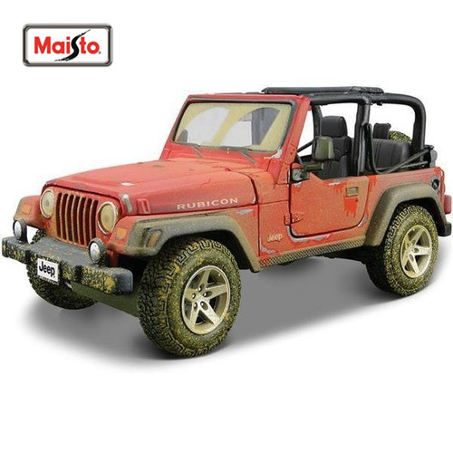 1:27 Jeep Wrangler Rubicon Diecast Model Car Toy New In Box Free Shipping
