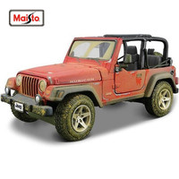 Maisto 1:27 Jeep Wrangler Rubicon Diecast Model Car Toy New In Box Free Shipping