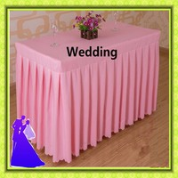 Polyester table skirt wedding banquet cheap 5pcs 180*45*75cm for sale free shipping