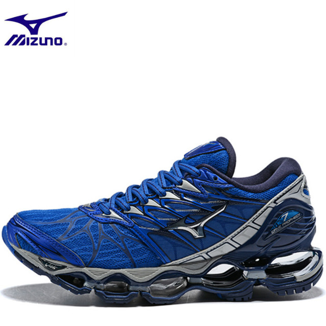 new style ee5a3 cb8d7 US $63.38 32% OFF Mizuno Wave Prophecy 7 Professional Shoes for Men 5 Color  Mesh Lightweight Breathable Air Cushion Weightlifting Shoes Lace up-in ...