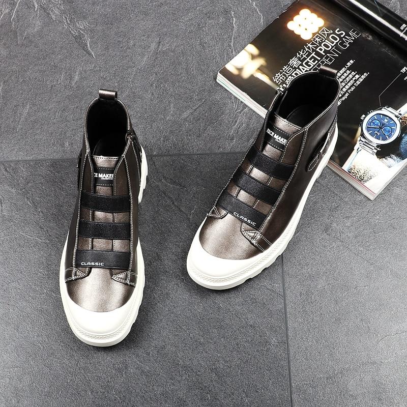 Imperméables Botas Mode De Cheville Zapatos Bottes Martin Zip Hombre gun Printemps Marque Noir Cuddlyiipanda Luxe Hommes Automne IPw77q