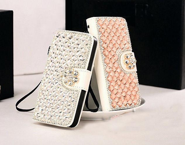 XINGDUO Floare Diamante Bling Diamant Portofel Husa Portofel pentru - Accesorii și piese pentru telefoane mobile