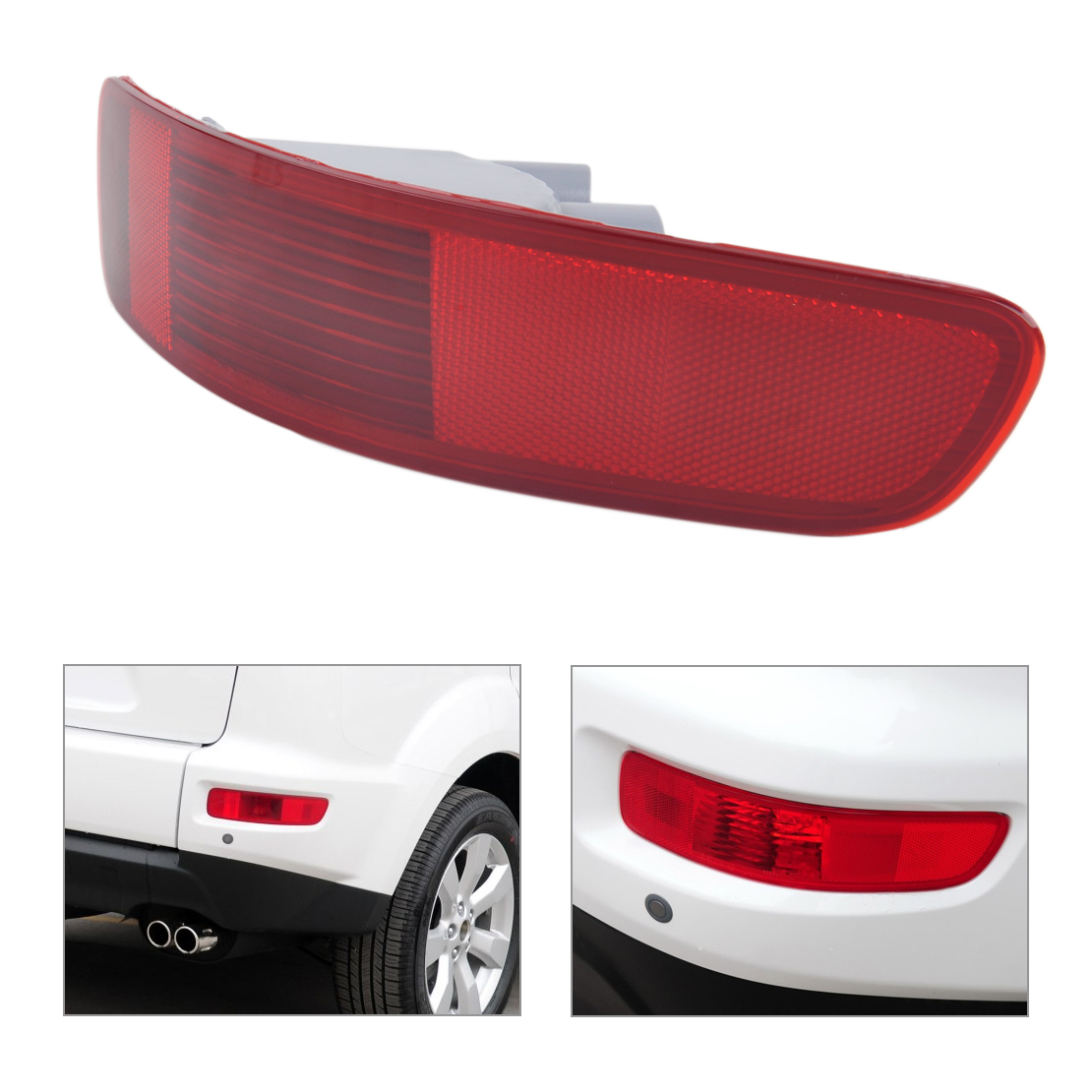 New Car Red Rear Right Tail Fog Light Lamp Reflector 8355A004 Fit for Mitsubishi Outlander 2007 2008 2009 2010 2011 2012 car rear trunk security shield cargo cover for jeep compass 2007 2008 2009 2010 2011 high qualit auto accessories
