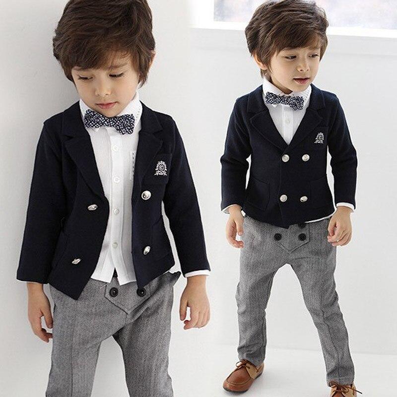 2-8 âge 4 pièces mode mariage costumes pour bébé garçons gentleman enfants vêtements ensemble bambin garçons survêtement enfants vêtements formels