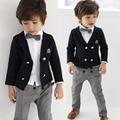 2-8 возраст 4 шт. модные свадебные костюмы для мальчиков джентльмен детская одежда набор малышей мальчиков спортивный костюм дети формальная одежда