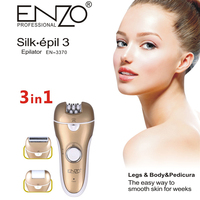 ENZO Electric Lady Shaving Hair Removal Device Portable 3 In 1 Arm Leg Body Painless Epilator