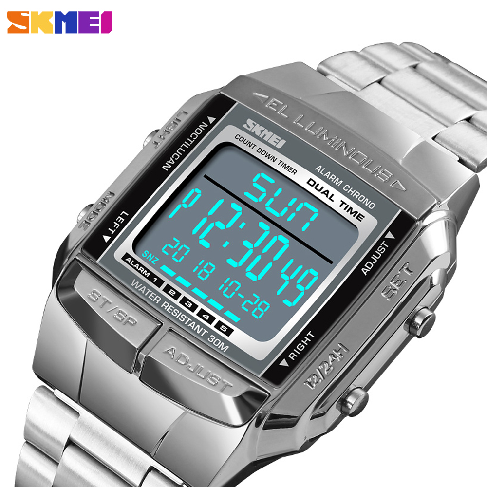 <font><b>SKMEI</b></font> Brand Luxury Men's Sports Watch Business Countdown Digital Clock Waterproof Male Military Wristwatches Relogio Masculino image