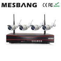 Mesbang 960P plug and play wifi ip camera system wireless 4ch nvr kit 1.3MP easy to install delivery by DHL Fedex free shipping