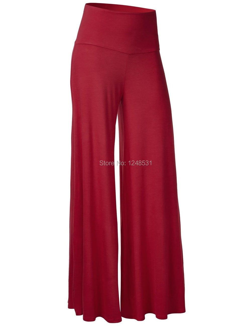 Women High Waist   Wide     Leg     Pants   Modal Chic Palazzo Lounge   Pants   Loose   pants