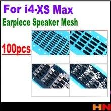 100 шт для iPhone 4, 4S, 5, 5S, 5c, 6, 6s, 7, 8, 8p X plus, внутренний наушник, динамик, решетка против пыли, сетка с резиновой прокладкой