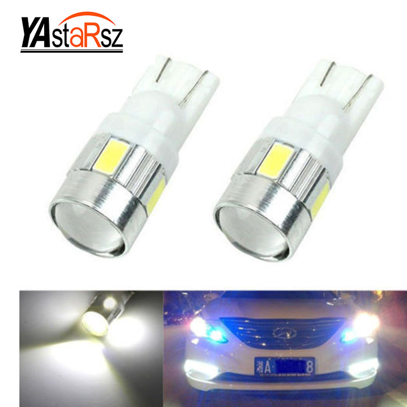 1X car styling Car Auto LED T10 194 W5W Canbus 10 smd 5630 DIODO EMISSOR de Luz Lâmpada led Sem erro luz de estacionamento T10 LED Car Light Side