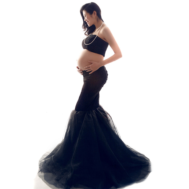 Pregnant Women Mermaid Skirts + Short Tops Photographic Clothes Maternity Photo Shoot Props Pregnant Women Photography Skirts