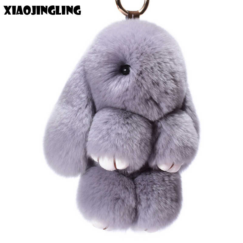 5c79056064 XIAOJINGLING Hot Sale Cute Smooth Rabbit Key Ring Cute Fashion Fluffy Bunny  Keychain Baby Toys Bag
