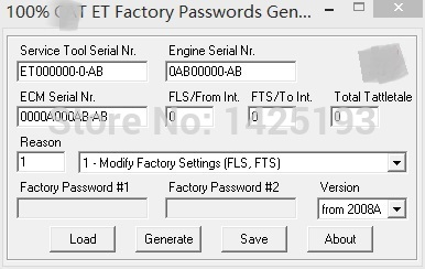 US $720 0 10% OFF|100% 2017 ET FACTORY PASSWORDS GENERATOR v0 2 9 for  cat-in Software from Automobiles & Motorcycles on Aliexpress com | Alibaba  Group