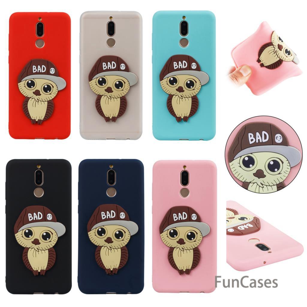 Cartoon Owl Case SFor Hoesjes Huawei Mate 10 Lite Soft Silicone Phone Estojo Case Huawei Ascend Maimang 6 Huawey Nova2i