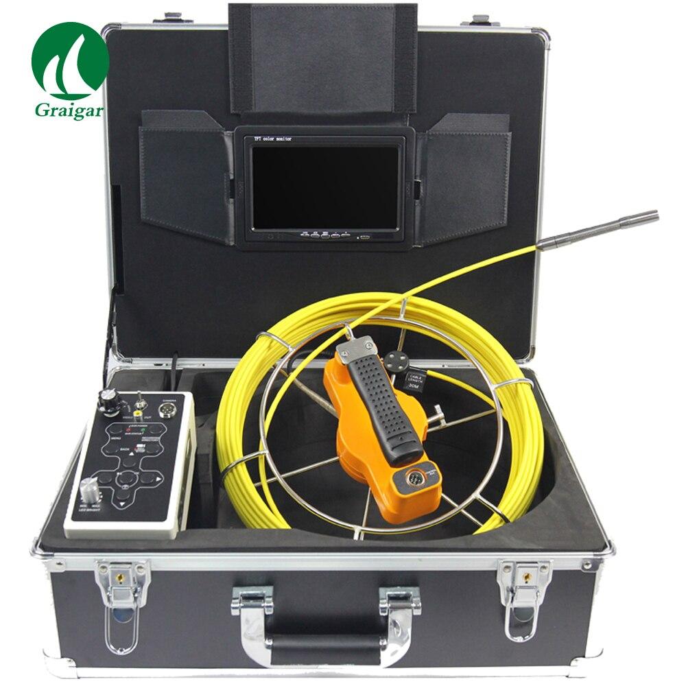 715DJ C12 7 дюймов монитор Труба инспекции Системы с 12 мм Камера головы и DVR