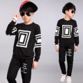 New Boys Clothing Set Kids Clothes Long-sleeve Kids Clothing Sets Casual Sport A Set For 2-8t Boy Black Gray Red Clothes W11294
