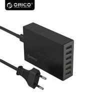 CSL 6U 10A50W Super Charger EU US UK AU Plug 6 Ports USB Desktop Charger Station