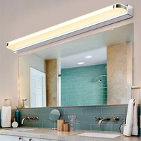 Stainless Steel LED Bathroom Toilet Mirror Light Acrylic Lampshade Modern Makeup Lamp Waterproof Fog Vanity Light
