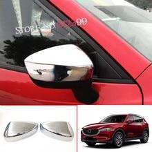 2 Pieces/ set Shiny Chrome Car Exterior Rear View Mirror Cover Trim For Mazda CX-5 CX5 2nd Gen. 2017 2018  Accessories