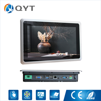 """10.1 inch Industrial Fanless Panel PC, Core i5 CPU/4GB RAM/32G SSD,1COM/2USB, 10.1"""" rugged industrial tablet"""