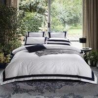 ARNIGU queen King Super King size отель в стиле постельные принадлежности 4 шт. 100% хлопок наволочки + квартира/Встроенная простыня + Стёганое одеяло крышка