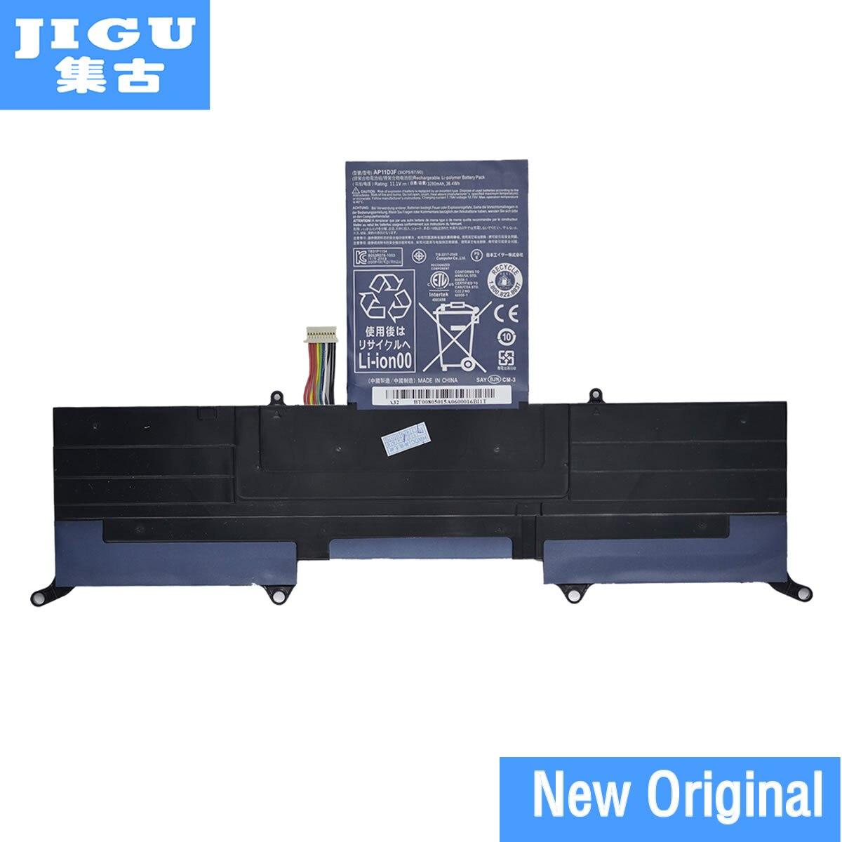 JIGU 3ICP5/65/88 3ICP5/67/90 AP11D3F AP11D4F Original Laptop Battery For ACER Aspire S3 S3-391 S3-951 MS2346