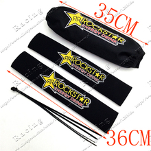 Rockstar Front Fork Protector Rear Shock Absorber Guard Wrap Cover For CRF YZF KTM KLX Dirt Bike Motorcycle ATV Quad Motocross