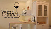 Free Shipping Funny Bar Pub Wall Art Stickers Wine Decals Restaurant Wall Decor Vinyl Wine Decoration