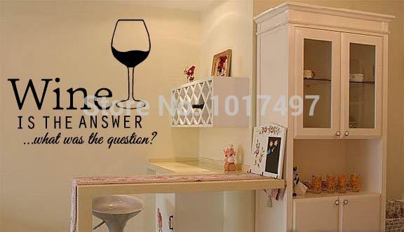 Free Shipping Funny Bar Pub Wall Art Stickers Wine Decals