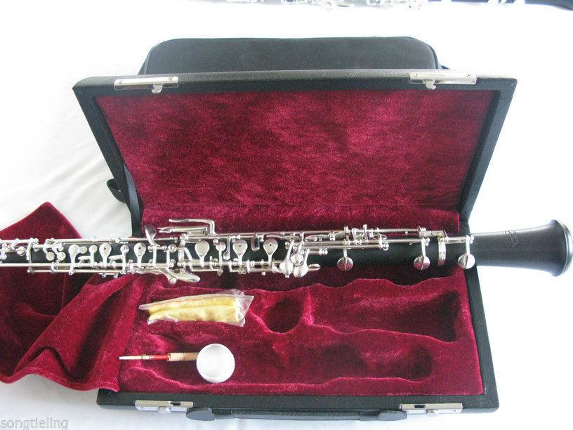 Precise Professsional Musicians Concert Oboe,bb Keys,ebony Body,nickel Plated Driving A Roaring Trade