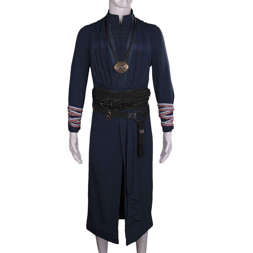 All Include Cosplay Doctor Strange Steve Full Set Costume & Ring Eye of Agamotto Necklace Free Halloween Party (18)