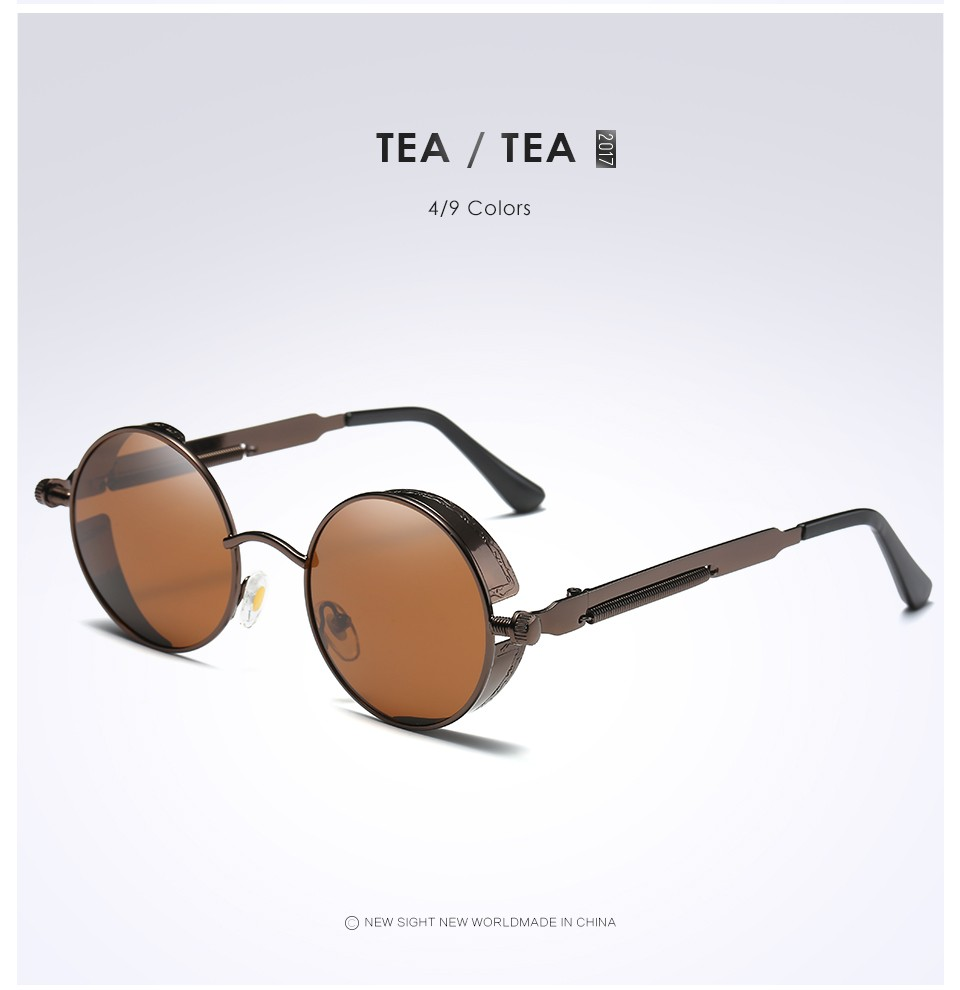 1e43c73503 Vintage-Polarized-Steampunk-Sunglasses-Brand-Design-Round-UV400-Men ...
