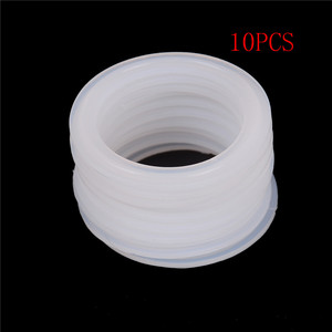 "10pcs Silicone Sealing Strip Gasket Ring Washer Fit 51mm Pipe x 64mm O/D Sanitary 2"" Tri Clamp Ferrule For Homebrew Dairy(China)"