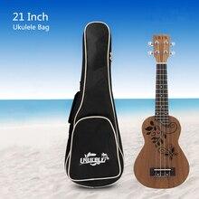 21 Inch Ukulele Bag Soft Case Concert Gig Bag Cover Cotton Waterproof Hawaii 4 String Ukelele Guitar Backpack