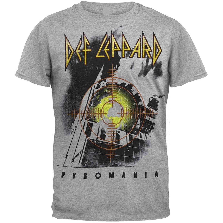 GILDAN FEA Merchandising Mens Def Leppard Target Pyromania T-Shirt